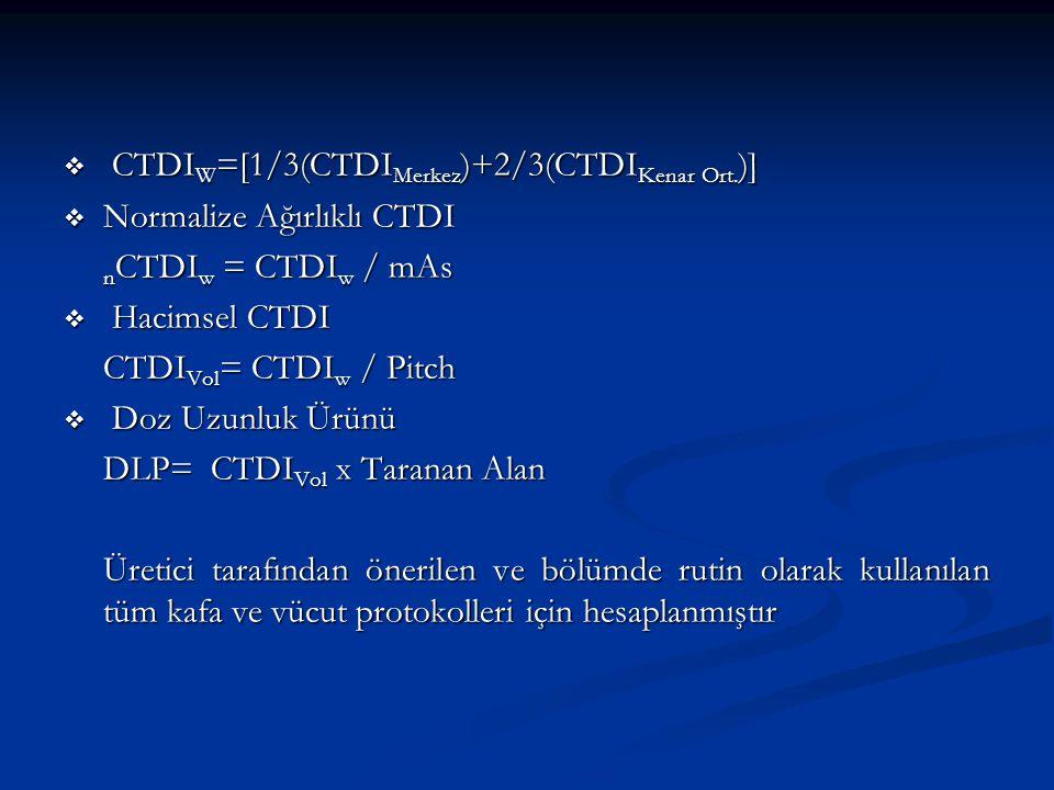 CTDIW=[1/3(CTDIMerkez)+2/3(CTDIKenar Ort.)]